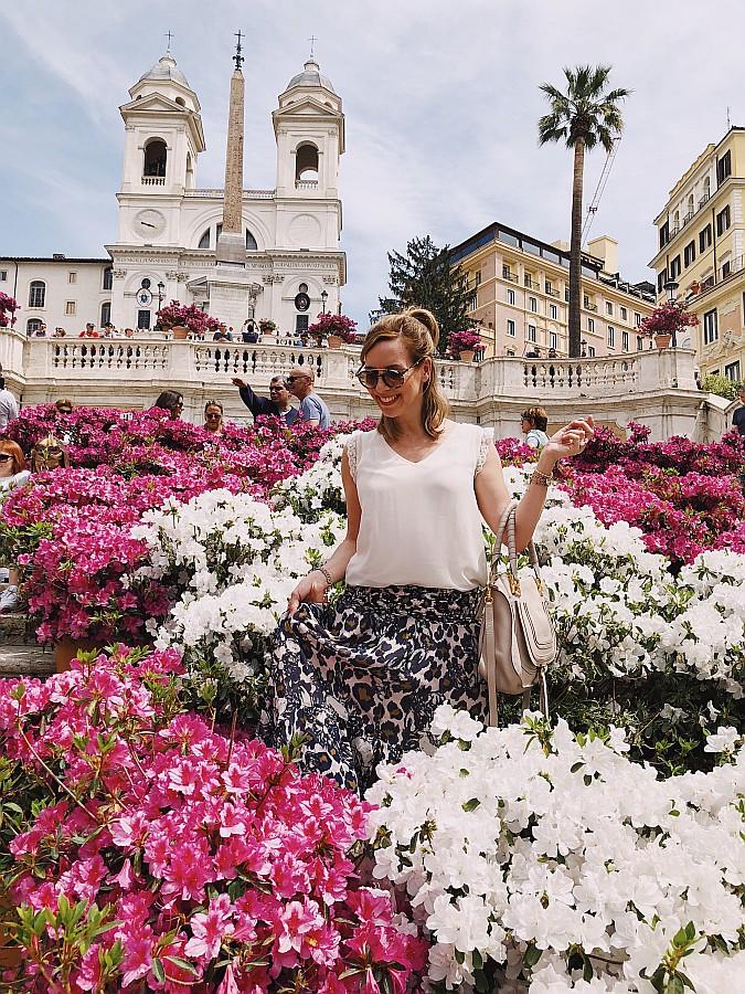 Rom Tipps Spanische Treppe Blumen