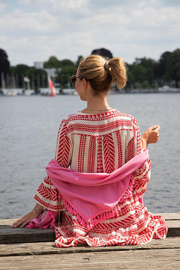 Zwillingsherz Hamburg Blogger Favoriten pinkes Dreieckstuch