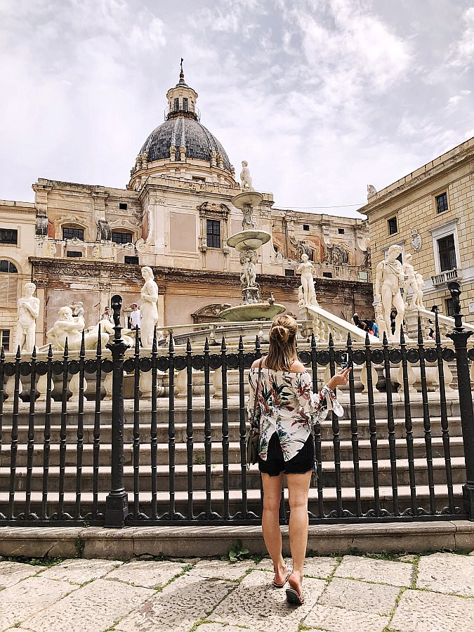 Off Shoulder Blusen kombinieren - Palermo - Sizilien