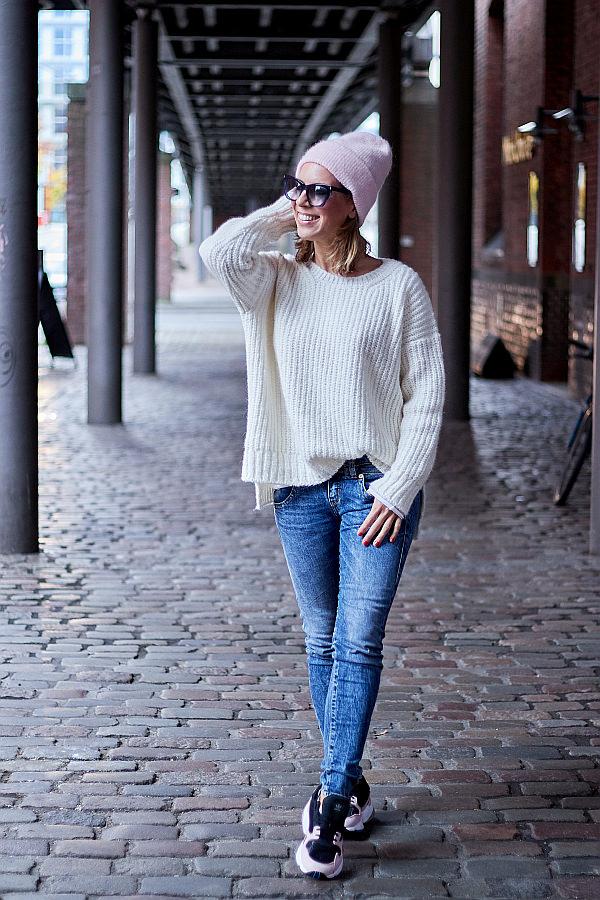 Outfit Inspiration Grobstrick Strick & Jeans Herrlicher