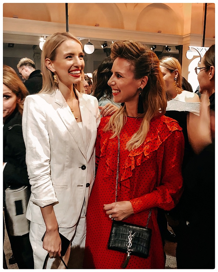 Leonie Hanne und settebello_hh bei der Marc Cain Show während der Fashion Week Berlin