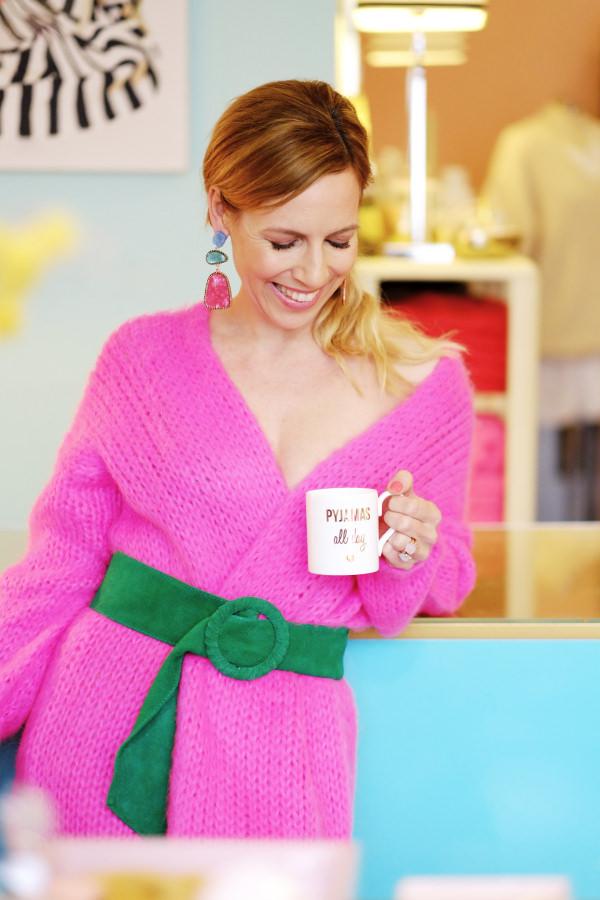 Pinkfarbener Cardigan von Clou Hamburg