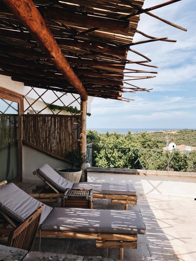 Terrasse Hotel Balocco Porto Cervo Costa Smeralda Sardinien