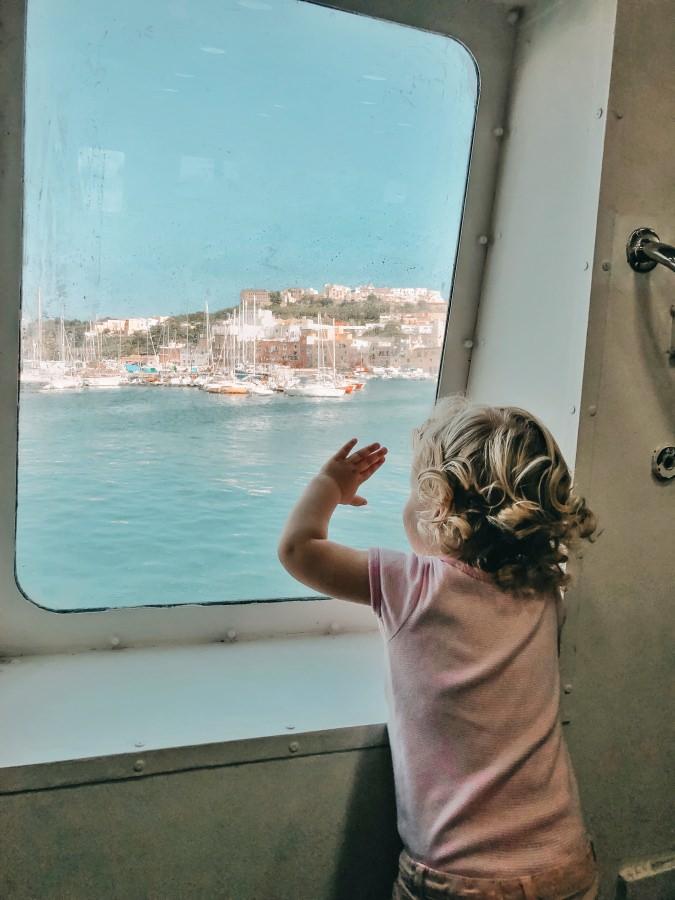Überfahrt mit dem Tragflächenboot zur Insel Ischia