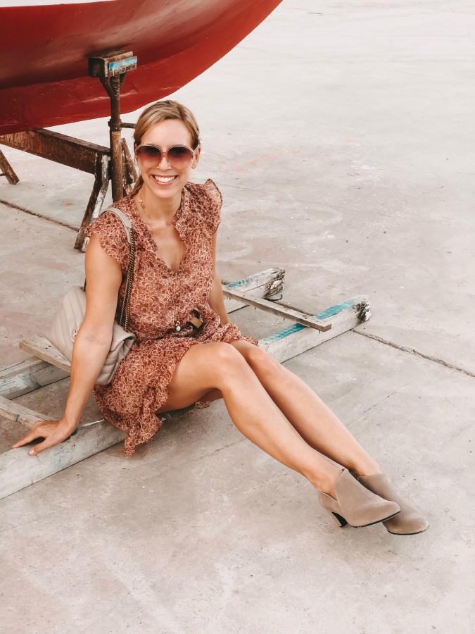 Ankle Boots von LaShoe und Minikleid
