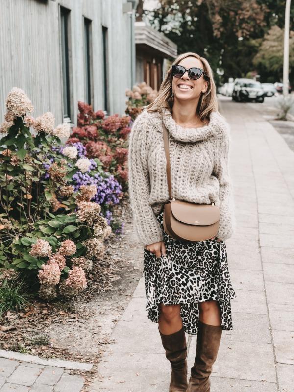 Another Me Pullover zum Leoparden Rock von Dein Lieblingsladen