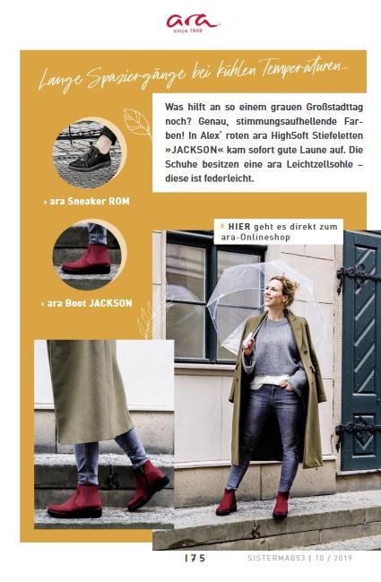 sisterMAG Shooting in Berlin für ara Stiefeletten