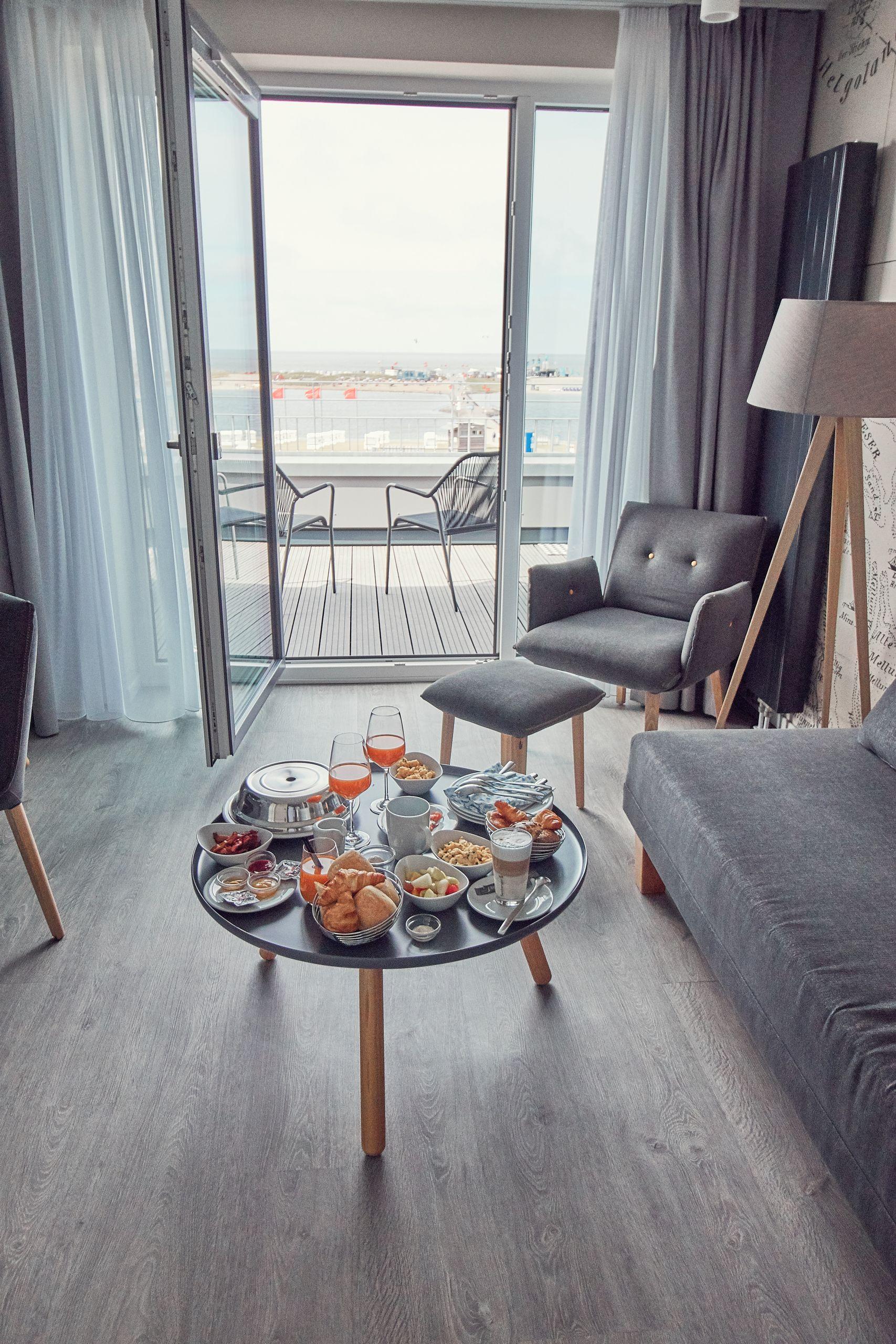 Wohnzimmer des Strandhotel Küstenperle in Büsum