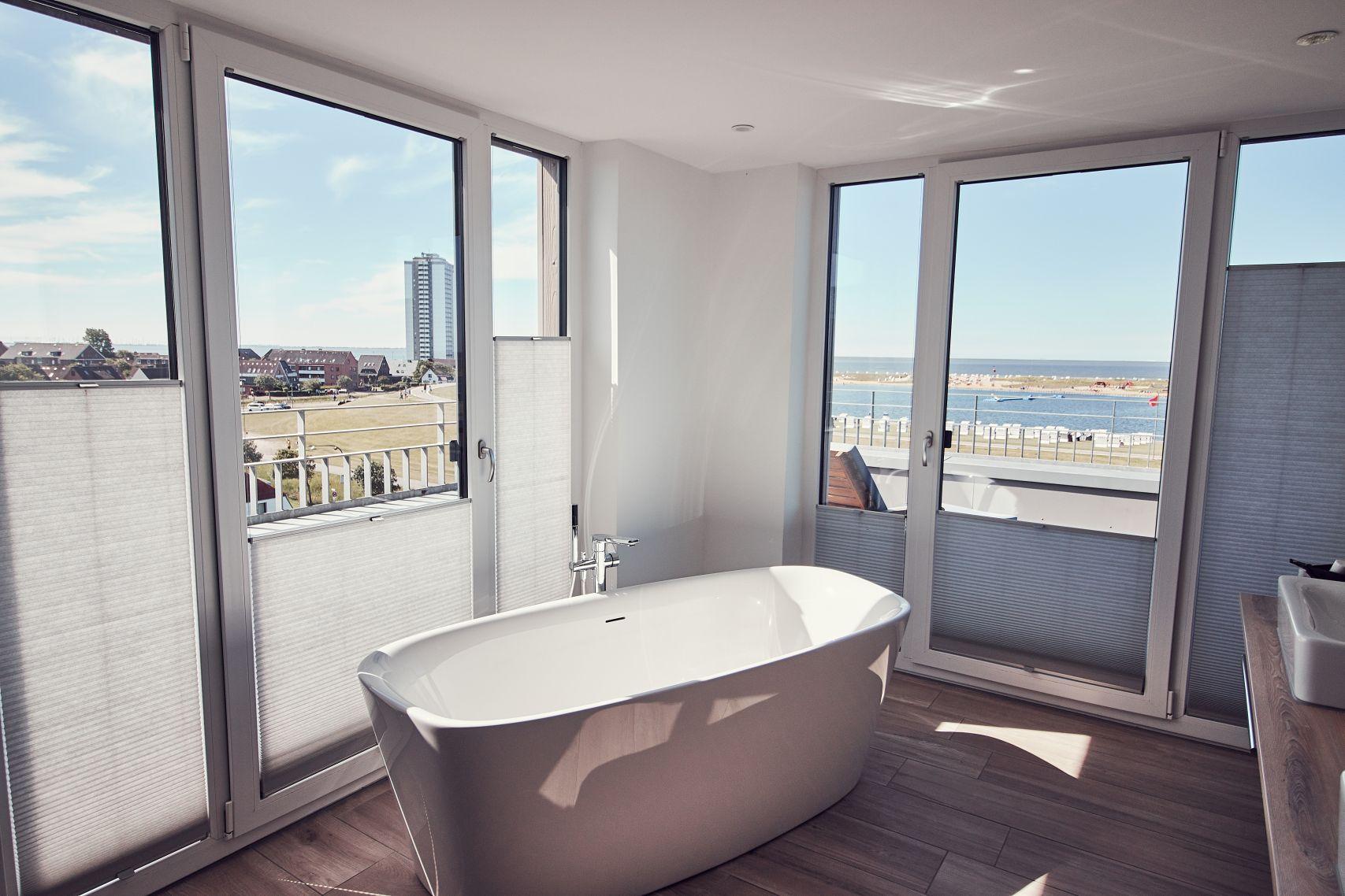 Badezimmer des Strandhotel Küstenperle Büsum
