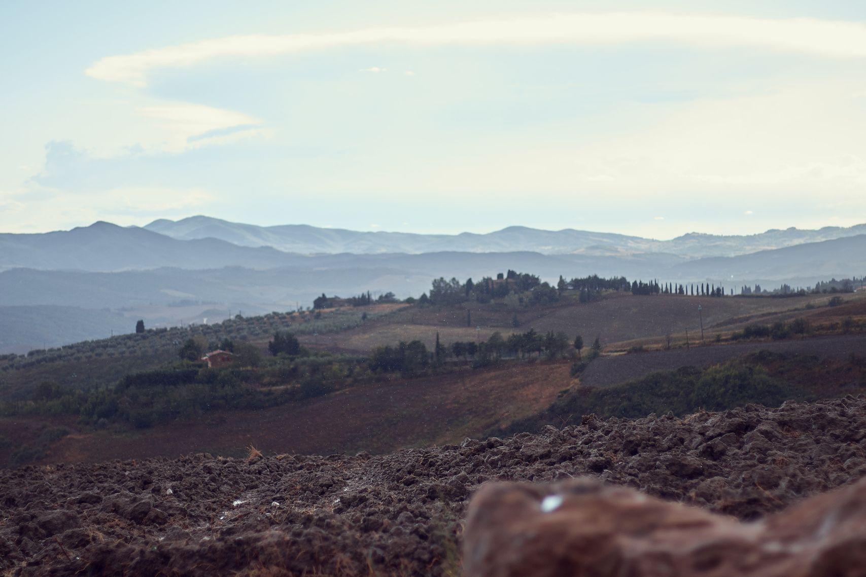 Ausblick von Volterra beim Toskana Roadtrip
