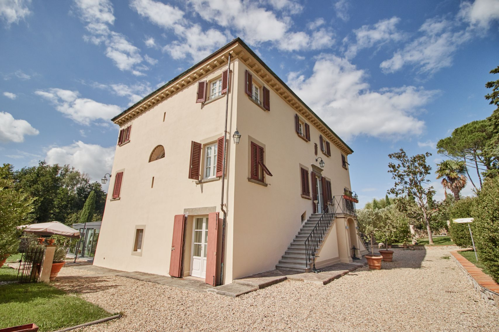 Albergo Villa Marta Lucca als Stopp vom Toskana Roadtrip