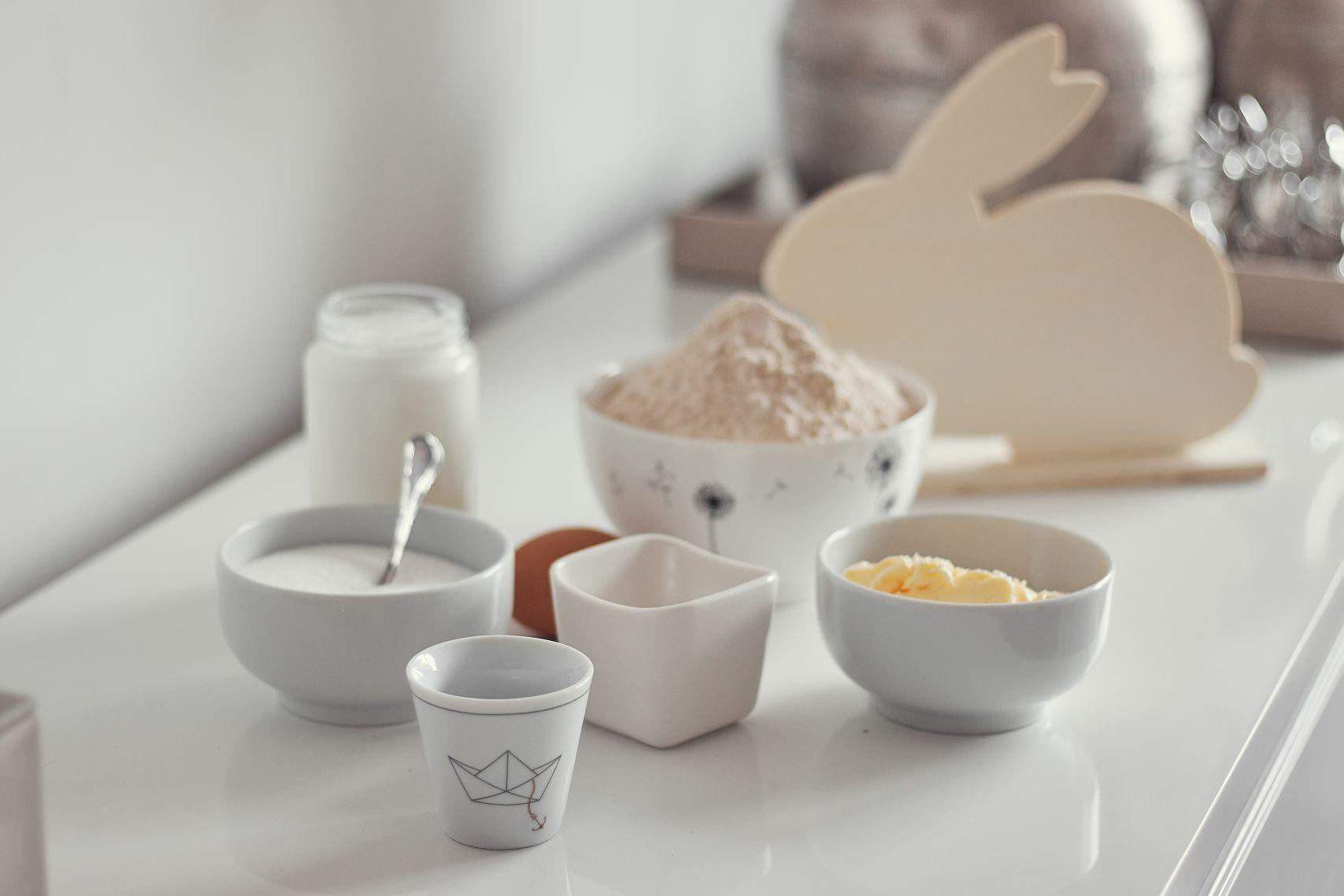 Zutaten für das Hefe Hasen Rezept für Ostern