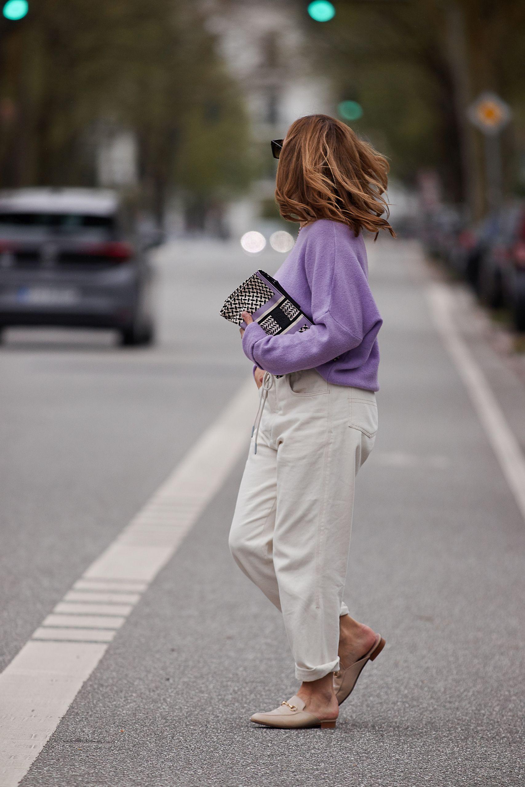 Outfit Inspiration zur Frage welche Farbe passt zu Lila