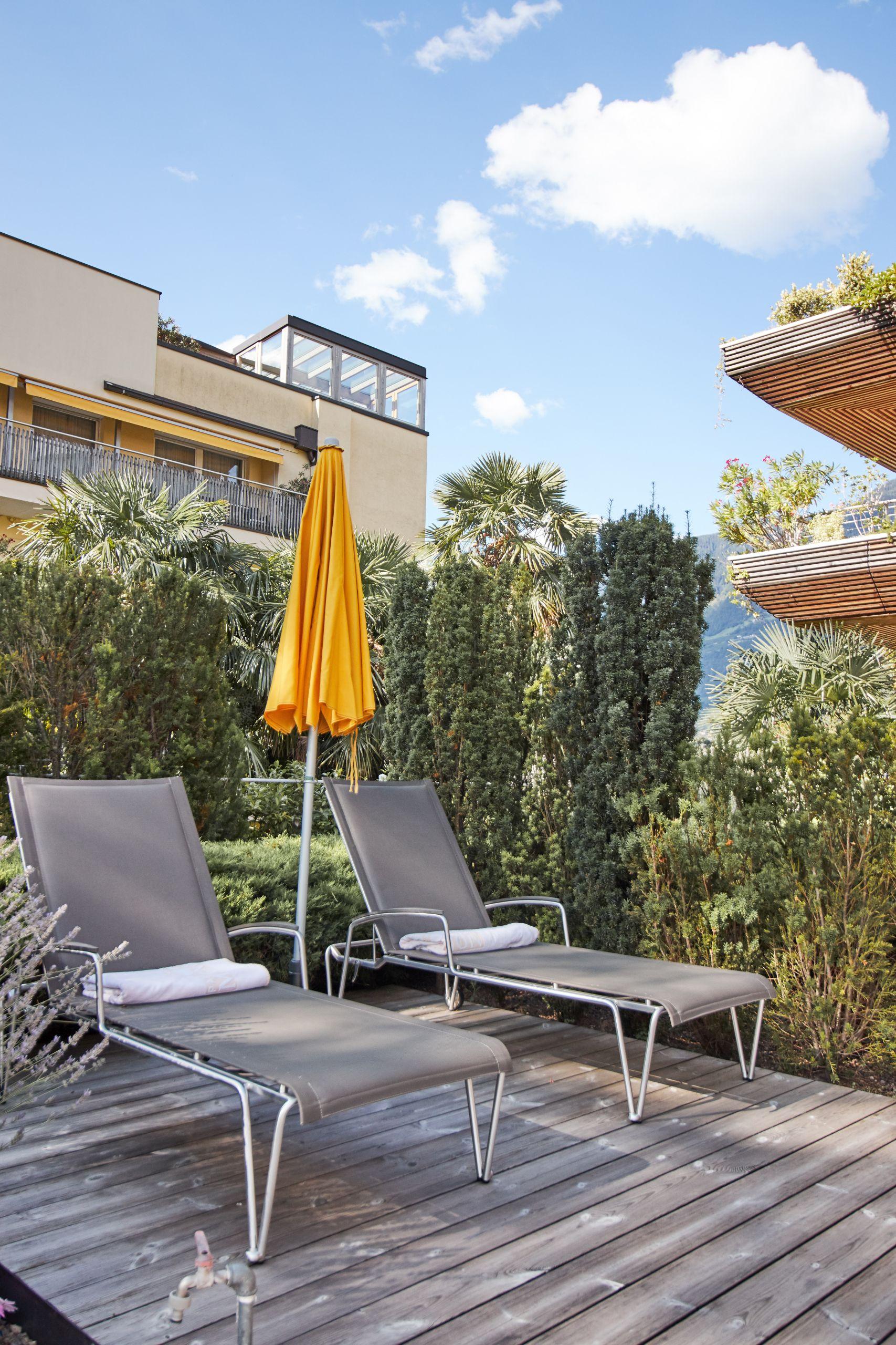 Terrassse im Parkhotel Mignon Meran