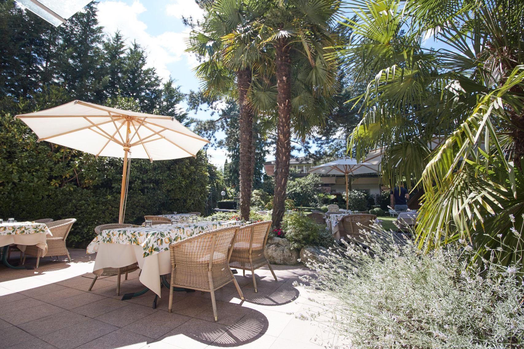 Terrasse im Parkhotel Mignon Meran