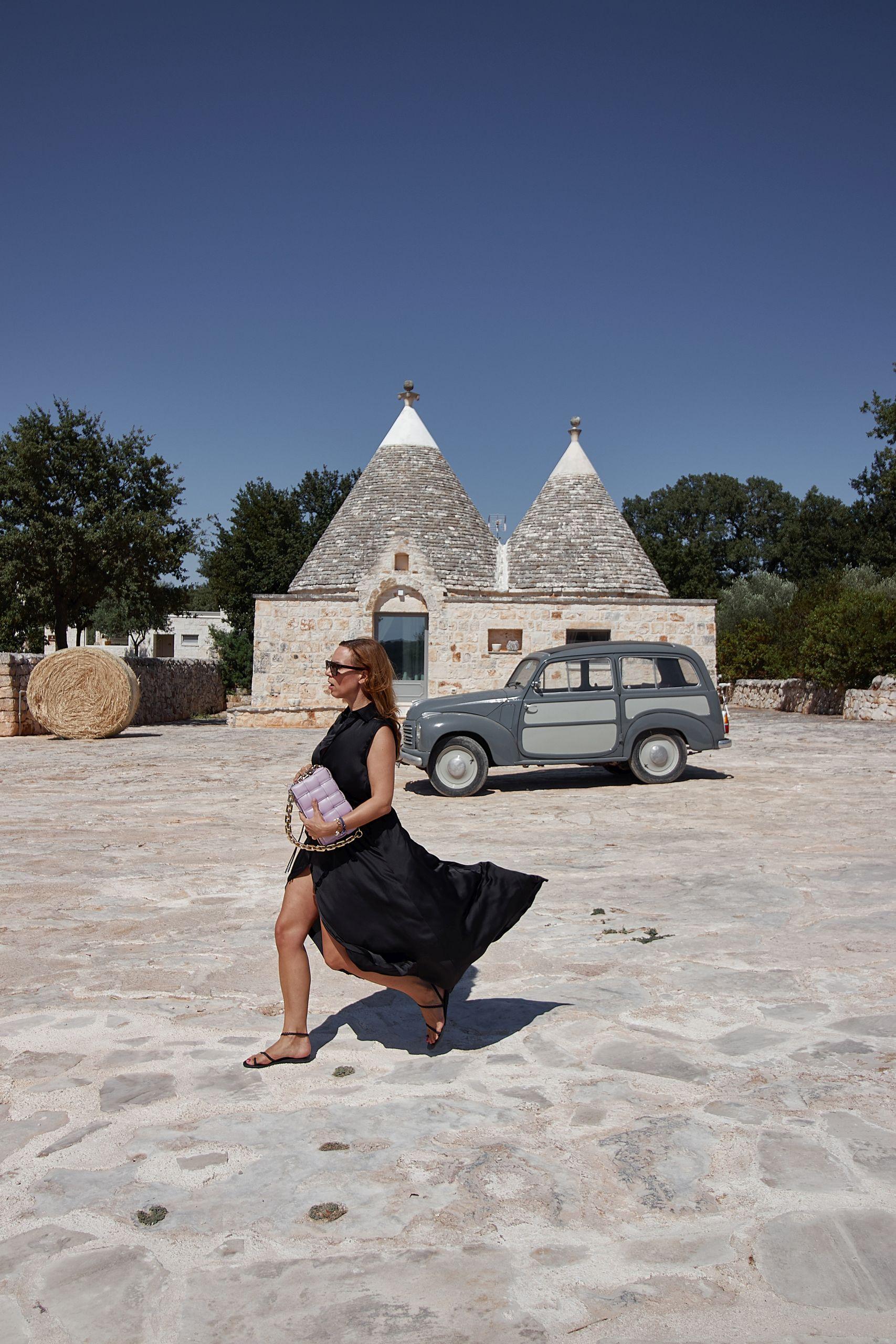 Francesca Geraci Couture Seidenkleid in der Masseria Grieco