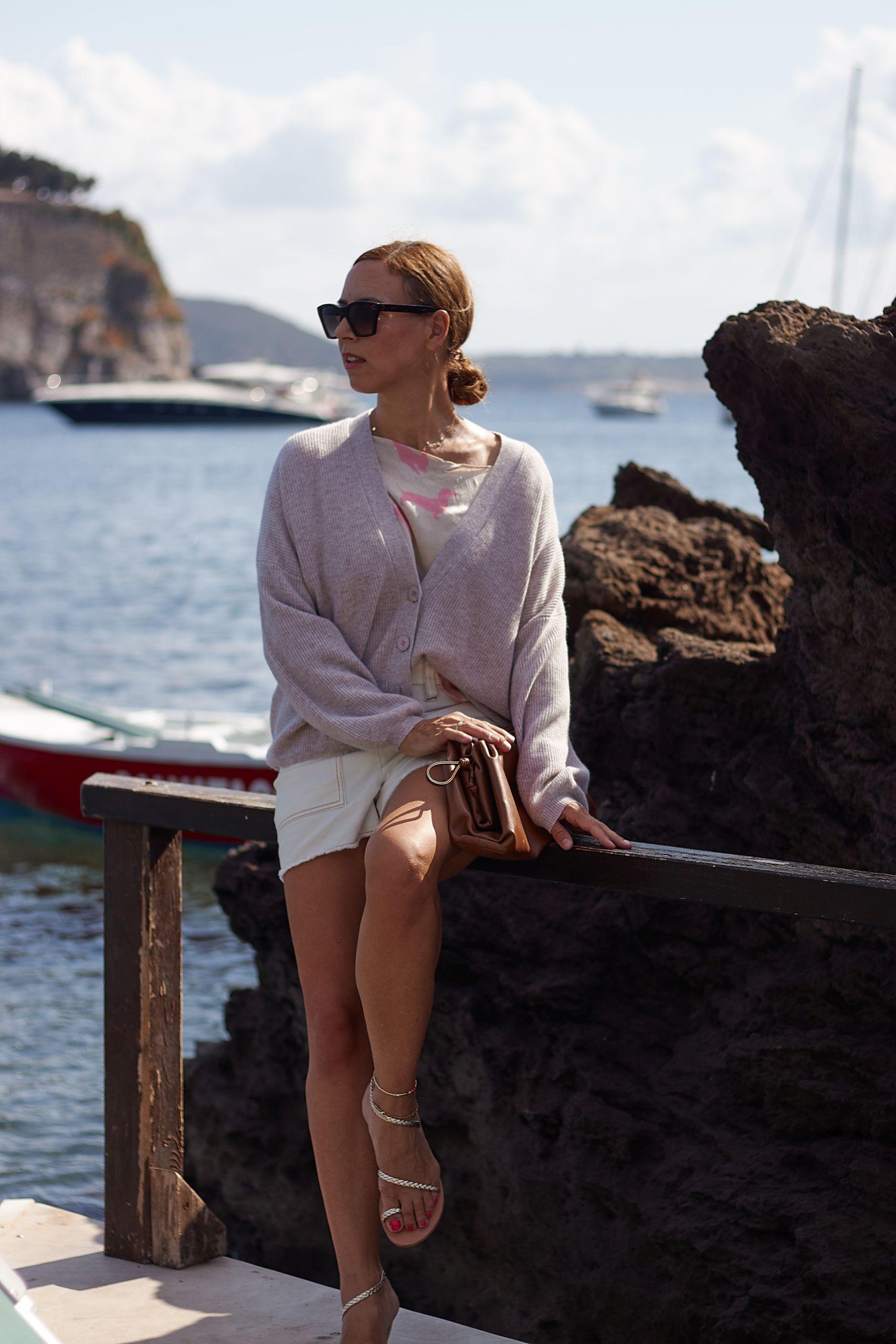 Alba Moda Cashmere Cardigan im Coco Mare in Carta Romana